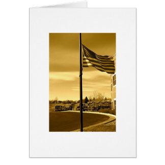 flag memorial card