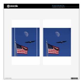 Flag Moon Eagle Kindle Fire Decals