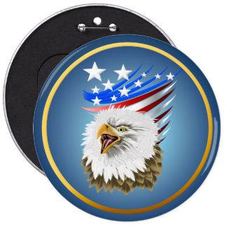 Flag N Eagle Button