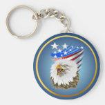 Flag N Eagle Keychain