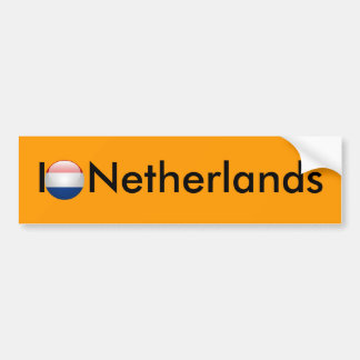 Flag Netherlands Bumper Stickers