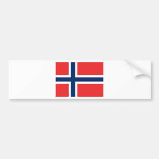 Flag Norway Bumper Stickers