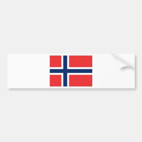 Flag Norway Bumper Sticker