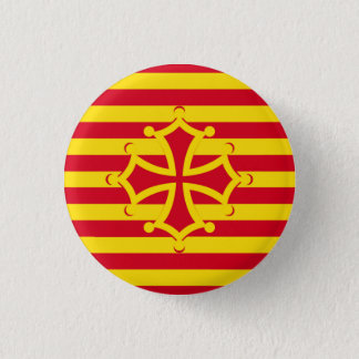 flag occitanie swipes in pinback button
