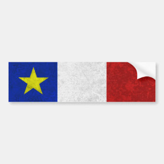 Flag of Acadia Distressed Grunge Bumper Sticker