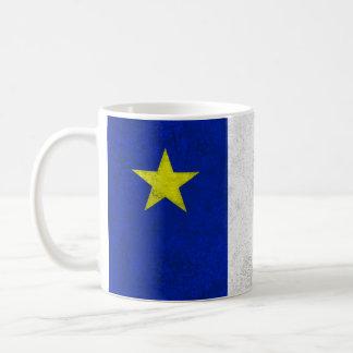 Flag of Acadia Distressed Grunge Classic White Coffee Mug