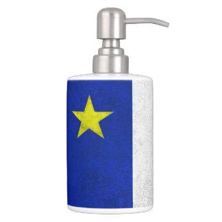 Flag of Acadia Distressed Grunge Bath Accessory Sets