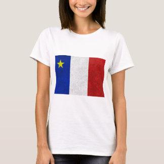 Flag of Acadia Distressed Grunge T-Shirt