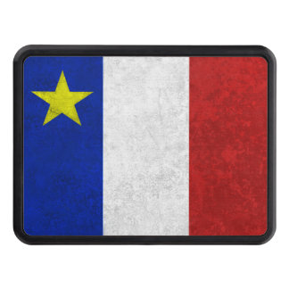 Flag of Acadia Distressed Grunge Tow Hitch Cover