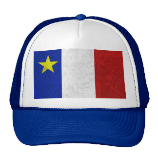Flag of Acadia Distressed Grunge Trucker Hat
