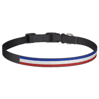 Flag of Acadia Distressed Grunge Pet Collars
