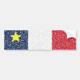 Flag_of_Acadia dots bumper sticker