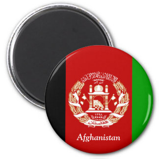 Flag of Afghanistan 2 Inch Round Magnet