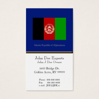Flag of Afghanistan Business Card