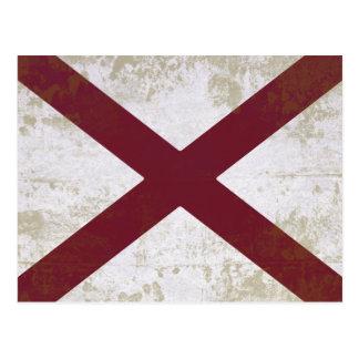 FLAG OF ALABAMA POST CARD