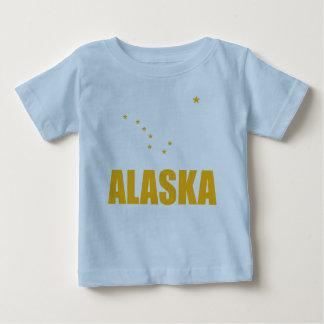 Flag Of Alaska Big Dipper Yellow Text Baby T-Shirt