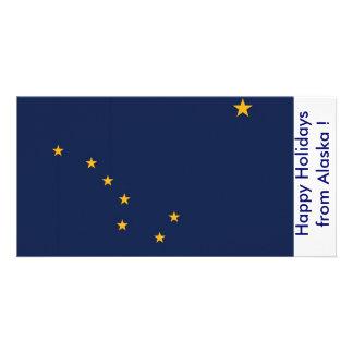 Flag of Alaska, Happy Holidays from U.S.A. Card