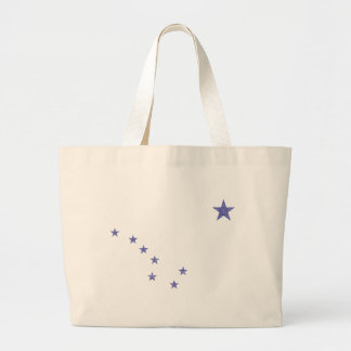 Flag of Alaska Large Tote Bag