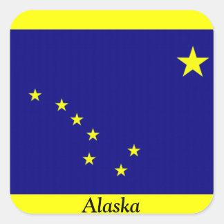 Flag of Alaska Square Sticker