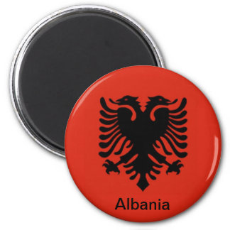 Flag of Albania 2 Inch Round Magnet