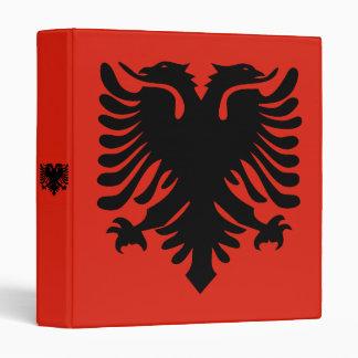 Flag of Albania 3 Ring Binder