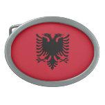 Flag of Albania Belt Buckle