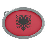Flag of Albania Belt Buckles