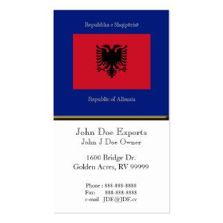 Flag of Albania Business Card
