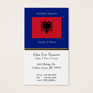 Flag of Albania Business Card