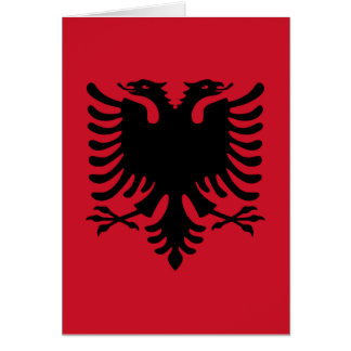 Flag of Albania Card