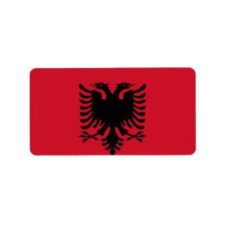 Flag of Albania Label