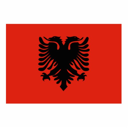 Flag of Albania Standing Photo Sculpture