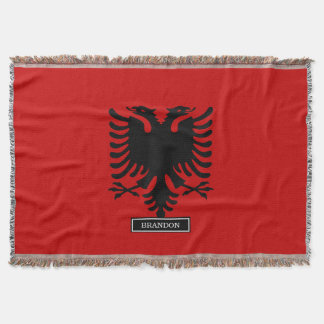 Flag of Albania Throw Blanket