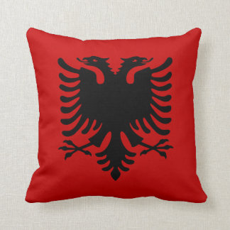 Flag of Albania Throw Pillow