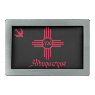 Flag of Albuquerque, New Mexico Belt Buckle