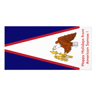 Flag of American Samoa, Happy Holidays from U.S.A. Card