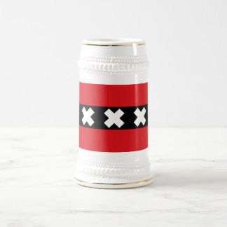 Flag of Amsterdam Beer Stein