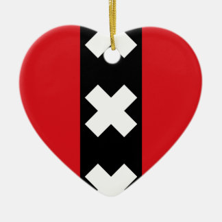 Flag of Amsterdam Ceramic Ornament