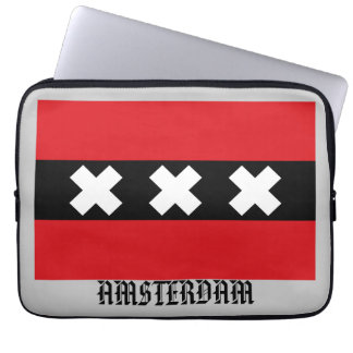 Flag of Amsterdam Laptop Sleeve