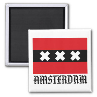 Flag of Amsterdam Magnet