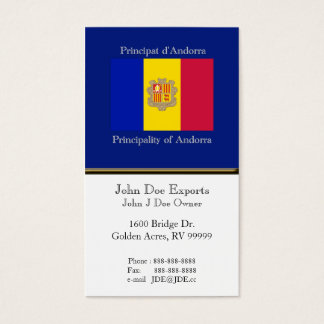 Flag of Andorra Business Card