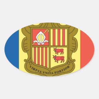Flag of Andorra Oval Sticker