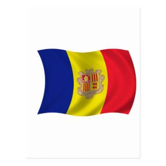 Flag of Andorra Postcard
