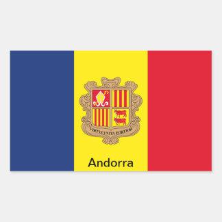Flag of Andorra Rectangular Sticker