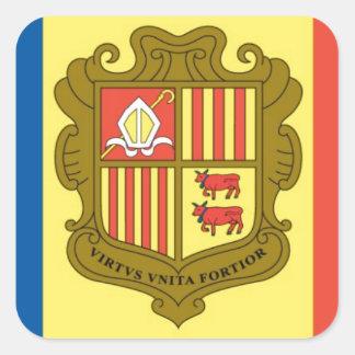 Flag of Andorra Square Sticker