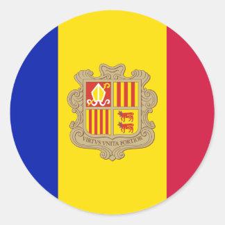 Flag of Andorra Sticker