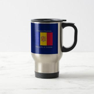 Flag of Andorra Travel Mug