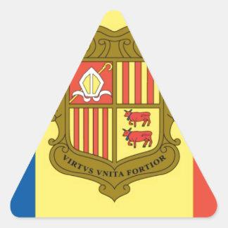 Flag of Andorra Triangle Sticker