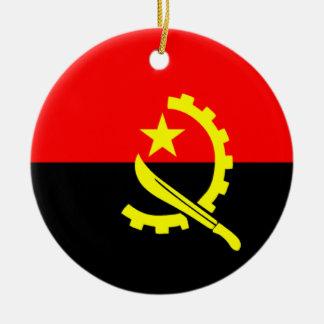 Flag of Angola Ceramic Ornament
