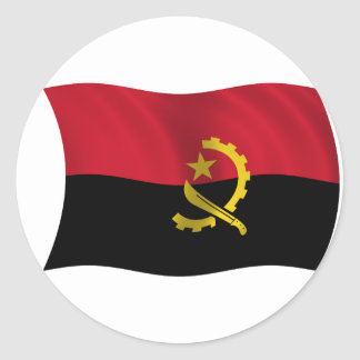 Flag of Angola Classic Round Sticker